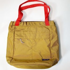 Patagonia headway tote bag oaks brown gold red